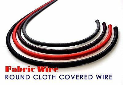 Cloth Covered Wire - 10 Ft. Round SVT Lamp Cord, Vintage Style Fabric Wire