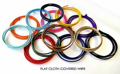 Cloth Covered Wire - 20 Ft. Flat Lamp Cord, Vintage Style Fabric Wire