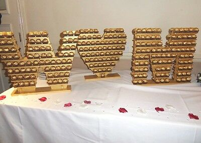 Your initials, Table Numbers etc, Ferrero Rocher Display Stand, Pyramid Tree