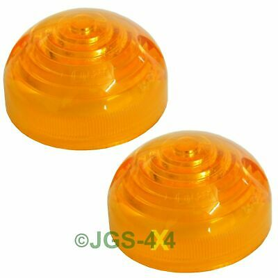 Land Rover Defender Indicator Lamp Lenses x2 - 589285