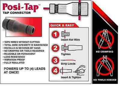 BEST WIRE TAP CONNECTOR Posi-TAP NO TOOLS Strong Better Faster