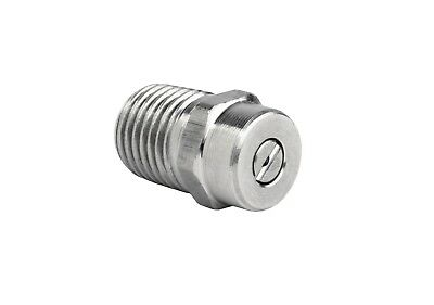 "Pressure Washer Jet Wash Spray Nozzle 1/4"" Stainless Steel Angle 40° Sizes 2-10"
