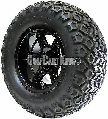 "12"" RHOX RX252 Wheel and 23x10.5-12 Mojave All Terrain Tire Golf Cart Combo"