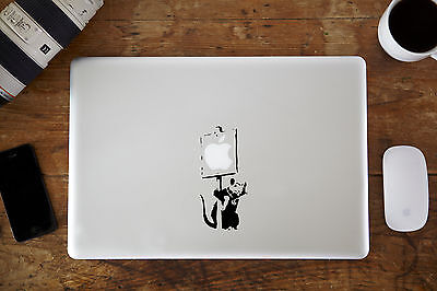"Banksy Rat Protest Decal Sticker Apple MacBook Air/Pro Laptop 11"" 12"" 13"" 15"""