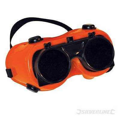 Welding Goggles Clear / No. 5 Green Clear polycarbonate safety lens.