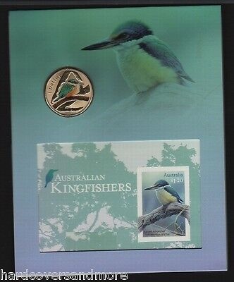 Australia Sacred Kingfisher Imperf Sheetlet & matching Coin Limited Ed. 178/300