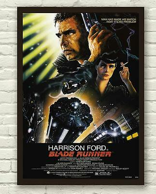 Classic Blade Runner Harrison Ford Movie Film Poster Print Picture A3 A4