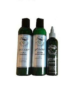 Gro-aut Hair Care Kit Herbal Shampoo Conditioner & Hair Growth Oil Fast Growth