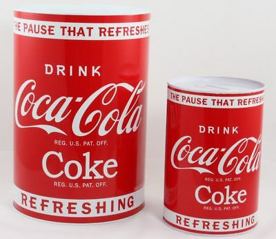 Coca Cola Savings Tin Large or Small Money Box Savings Jumbo