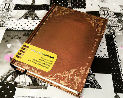 Vintage classic notebook blank diary journal note book writer gift hard cover