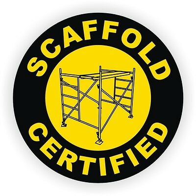 Scaffold Certified Hard Hat Decal / Helmet Sticker Safety Harness Labels