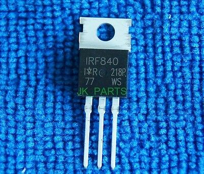 10 x New IRF840 IRF 840 Power MOSFET N-channel 8A 500V TO-220 IR