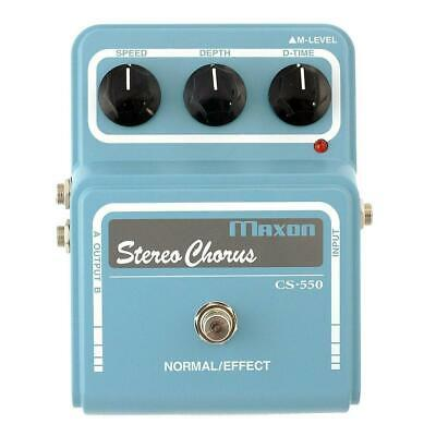 NEW! Maxon CS-550 Vintage Series Stereo Analog Chorus - Classic 70's CE-1 Tone!