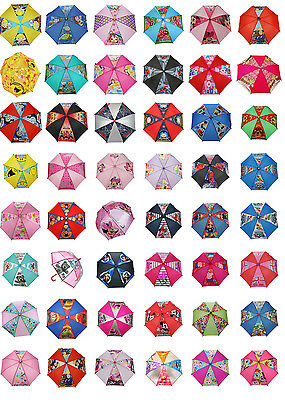New Boys And Girls Kids Character Umbrella / Brolley Dr Who Peppa Pig Minnie