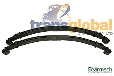 "Land Rover Series 2 & 2a 88"" SWB Rear Parabolic 3 Leaf Springs - BRITISH"