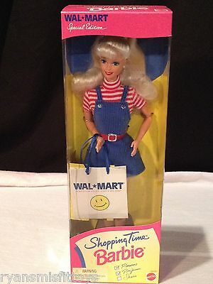 Shopping Time Barbie Doll, Wal-Mart Special Edition Barbie #18230 1997 NRFB