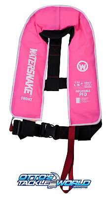 Watersnake Inflatable PFD Level 150/150N Manual Adult Life Jacket Pink at Otto's