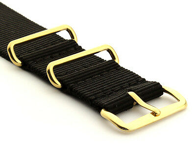 Military Army Nato G10 Nylon Watch Strap Band Gold Buckle 18mm 20mm 22mm 24mm