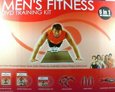 NEW Nils Vesk MEN's FITNESS TRAINING KIT BOXED Man Cave Get Fit Gift - Australia