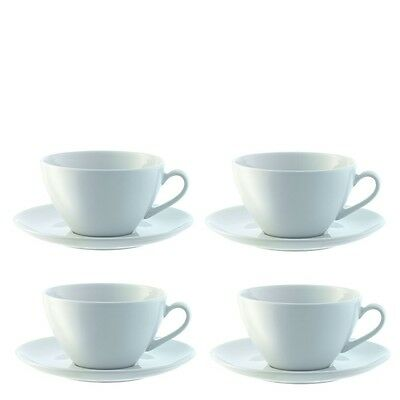 LSA Dine Cappuccino Cup & Saucer 350ml - Curved - Set of 4