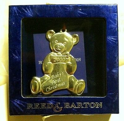 REED & AND BARTON CHRISTMAS ORNAMENT Baby's 1st First Christmas 2000