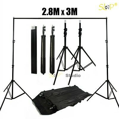 Pro Photography Studio Heavy Duty Backdrop Background Support Stand w/ Carry Bag