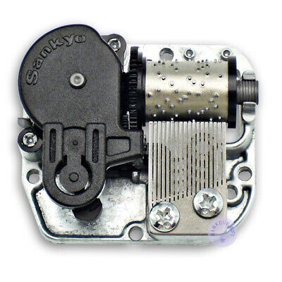 Silver Sankyo Musical Movement With Over 30 Melodies Choice for DIY Music Boxes