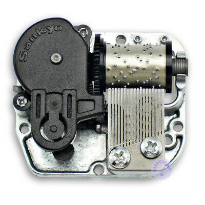 Silver Wind up Sankyo Musical Movement for DIY Music Boxes (45 Tunes Option)