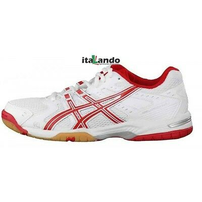 scarpe volley asics gel rocket 6 donna  biancorosso