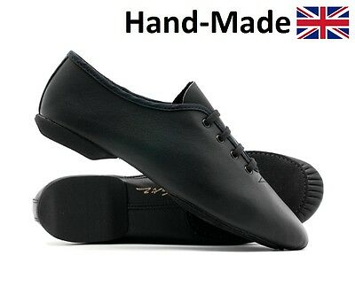 Black Leather Split Sole Dance Stage Jazz Modern Shoes By Katz All Sizes