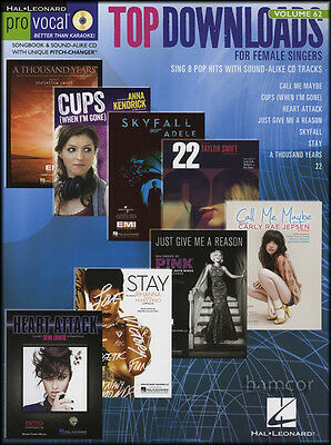 Top Downloads for Female Singers Pro Vocal Vol 62 Music Book/CD