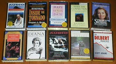 Lot of 10 Audiobooks on Cassette Tape-Non Fiction~John Gray, Jim Lovell, etc...