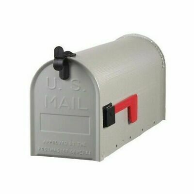 Solar Group ST100000 Standard Galvanized Steel Gray Rural Curbside Mailbox