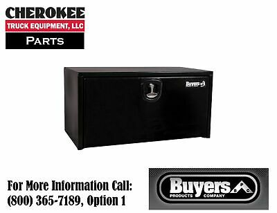 "Buyers Products 1734300, Black Steel Toolbox w/3 Pt Latch, 24"" H x 24"" D x 24"" W"