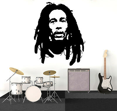 BOB MARLEY THE Sun Is Shining Wall Art Vinyl Decal Music Quote ...