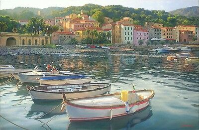 """Rio Marina"" June Carey Limited Edition Fine Art Giclee Print"