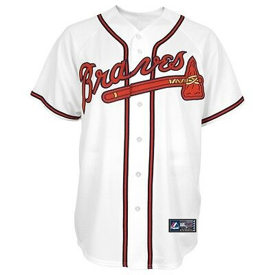 MLB Baseball Trikot Jersey ATLANTA BRAVES - Home white von Majestic