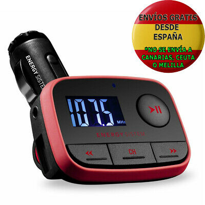 Reproductor Mp3 Coche Energy Sistem Car F2 Racing Red Transmisor Fm Usb Sdhc