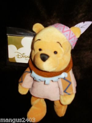 Bnwt Winnie The Pooh Red Indian Squaw Colllection Disney Store Rare