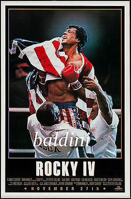 Rocky Iv - Sylvester Stallone - 1985 Movie Poster Print - Looks Awesome Framed