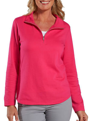 LAT Women's 1/4 Zip Taped Neck Lightweight Double Needle Winter Pullover. 3764
