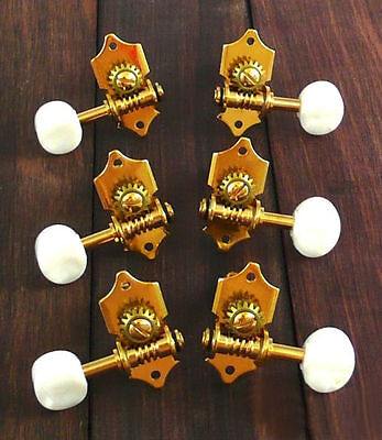 Acoustic guitar Gold plated open geared machine heads 6ps 326G-SW