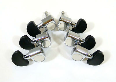 Acoustic Guitar Chrome plated tuners, nice Ebony button, 6 pieces 235C E7
