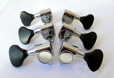 Acoustic guitar tuner Pear shaped ebony buttons (3R,3L) 235C-E