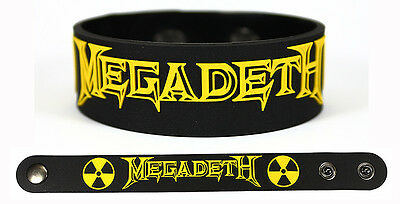 MEGADETH Rubber Bracelet Wristband Thirteen Super Collider