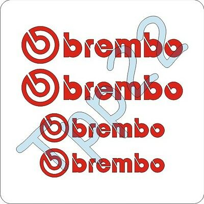 KIT 4 ADESIVI STICKERS BREMBO PER PINZE FRENI Tuning Auto Moto
