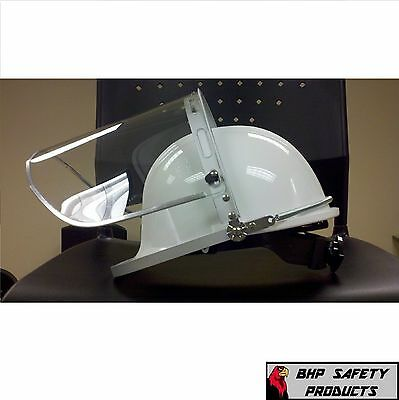 Pyramex White Hard Hat With Ratchet /  Faceshield And Adaptor ( Special 3 Pack )