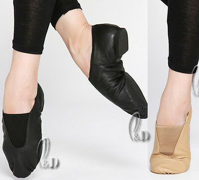 Jazz Dance Shoes Soft Genuine Leather Split Sole For Child To Adult Da005