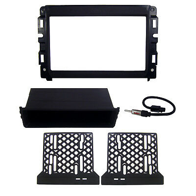 Radio Dash Mount Install Kit Double Din Pocket & Antenna for Dodge Ram Truck