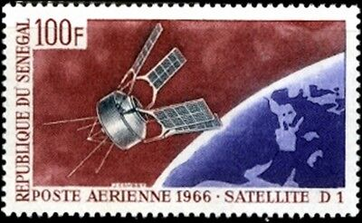 Satellite D-1 Space Airmail Stamp Senegal # C46 MNH